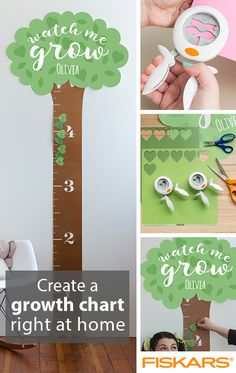 Customize a height chart to keep track of your children's growth over the years! This fun and useful project can be done right at home with your child and a few items from Fiskars. Check out the How-To section of our site to see this and many more fun DIY projects.