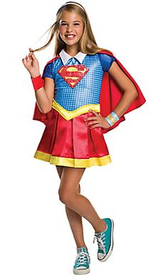 Girls Supergirl Costume - DC Super Hero Girls