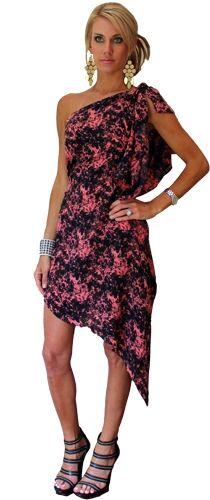 Thayer Goddes Dress in Pink/Black