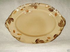 Cafe Royal Franciscan Large Serving Platter 14 1/2 Inches Earthenware Tan