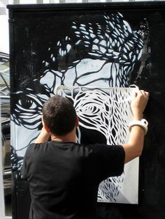 Beyond Banksy Project / C215 at work @