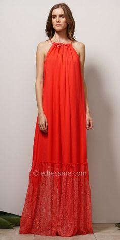 Fiona yellow panelled maxi dress