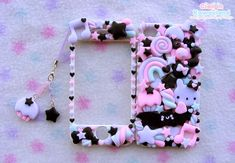 Pastel goth iphone4 front back case cover. €43.00, via Etsy.