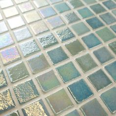 Merola Tile Ruidera Square Agua Mother of Pearl Glass Mosaic Wall Tile is suitable for walls and residential usage.