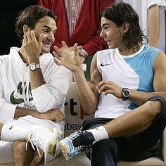 Rafa & Roger, the two greatest men's players of their era : )