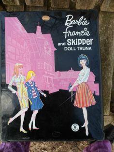 Vintage Barbie Francie Skipper Doll Trunk Case Mattel Canada International