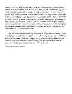 personal statement for resume examples
