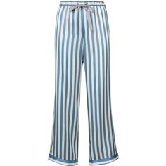 Morgan Lane Lanie in Space Chantal pyjama trousers ($258) ❤ liked on Polyvore featuring intimates, sleepwear, pajamas, blue, silk pyjamas, blue pajamas, silk pjs, blue silk pajamas and silk sleepwear