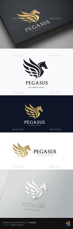 Pegasus Elite Logo Template PSD, Vector EPS, AI Illustrator. Download here: https://graphicriver.net/item/pegasus-elite/17471655?ref=ksioks
