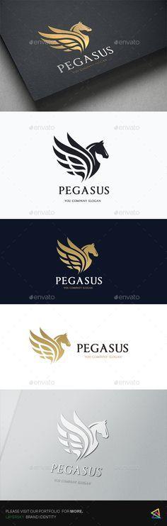 Pegasus Elite Logo Template PSD, Vector EPS, AI Illustrator. Download here: https://graphicriver.net/item/pegasus-elite/17471655?ref=ksioks