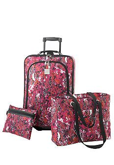 New Directions® 3 Piece Luggage Set - Pink Snake #belk #patterns
