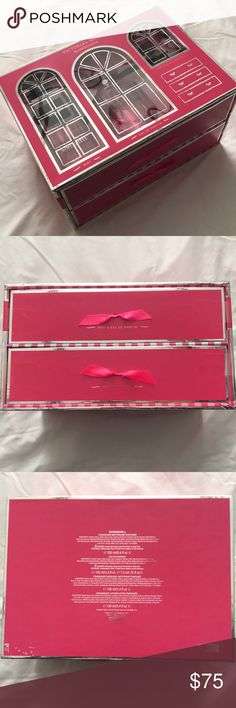 Victoria's Secret Bombshell Deluxe Gift Set Includes Bombshell Fragrance Mist, Eau de Parfum, Body Wash, and Lotion. New in Box. Never been opened (see tape on 2nd photo). Last photo is a stock photo of the drawers being opened. It would be a great gift! Willing to go lower in price, make me an offer or bundle to save 😊✨ Victoria's Secret Makeup