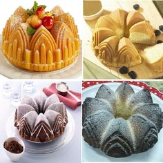 Silicone Bundt Pan Round Cake Mould Non Stick Bakeware Baking Fluted Tin Cake Baking Tins, Baking Cups, Cake Tins, Cooking Stone, Bundt Cake Pan, Jello Recipes, Baking And Pastry, Pastry Cake, Round Cakes