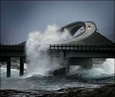 Atlantic Highway in Norway...I don't think I would be driving this highway in a storm!