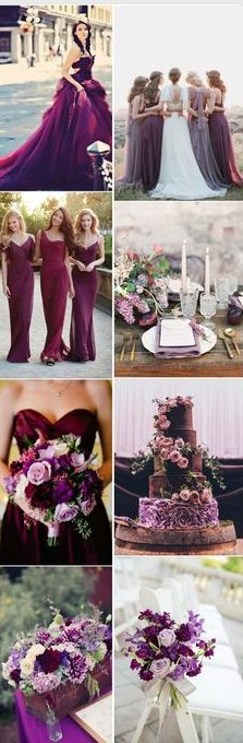 Visions of Purple - http://www.whitesatinweddingshow.com/visions-of-purple.html
