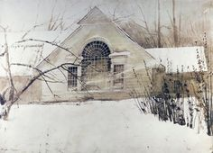 Andrew Wyeth    painted on e of his and gave to a friend a million years ago never to be seen again...