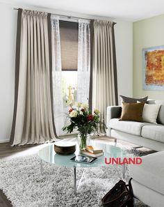 Unland Granada, Fensterideen, Vorhang, Gardinen und Sonnenschutz - curtains, contract fabrics, pleated blinds, roller blinds and more. Made in Germany