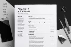 Resume/CV & Cover Letter- Professional- Clean - Eye catching- Easy Edit Template - Frankie by bilmaw creative on Creative Market