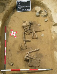 Archaeologists believe that they have found the remains of a woman metal worker from the Bronze Age, a discovery that challenges ideas about the division of labour in prehistoric times.    She was buried with an anvil, hammers, flint chisels and some small pieces of dress jewellery.    Scientists say that the choice of funeral artefacts points to her having been a fine metal worker – the first indication that women did such work thousands of years ago.