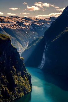 Adventure Around the Corner - a helicopter ride in this fjord and mountainous region of norway. Beautiful World, Beautiful Places, Beautiful Pictures, Beautiful Nature Wallpaper, Beautiful Landscapes, Beautiful Waterfalls, Landscape Photography, Nature Photography, Photos Voyages