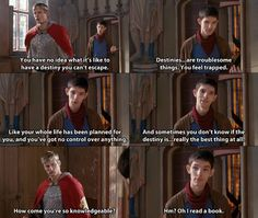 I love the writing on Merlin, it's so well-done, and the delivery is perfect, whether it's funny, serious, or sarcastic!  :-)