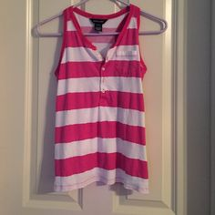 RL Striped Tank RL Pink and White Striped Tank--- EUC--- no flaws--- Child size 12/14 but fits Adult XS--- Ralph Lauren Tops Tank Tops