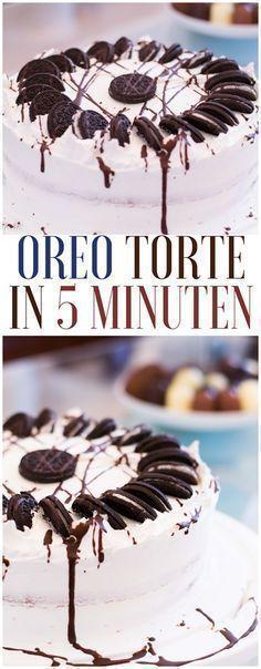 Oreo Torte in 5 Minuten - schnelle #torten mit #oreo #rezept