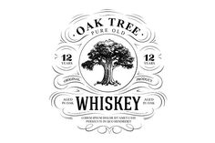 Vintage Oak Tree Whiskey Logo by vatesdesign on @creativemarket