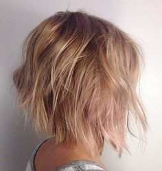 shaggy tousled bob hairstyle