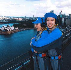 Tyler and Jenna Joseph Twenty One Pilots, Tyler And Josh, Tyler Joseph, Emo Bands, Music Bands, Josh Dun, Fall Out Boy, Staying Alive, Sydney Harbour Bridge