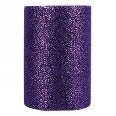 Purple sequined tulle