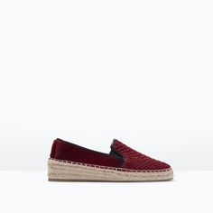 PRINTED LEATHER ESPADRILLES-Shoes-Woman-SHOES & BAGS   ZARA United States