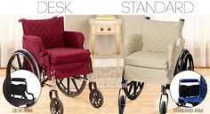 Fashionable wheelchair cover and seat cushion allows users to transform a purely functional wheelchair into a truly comfortable piece of furniture.