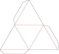 FREE SVG Triangle Box Origami Templates Geometric 3d Conceptual Architecture