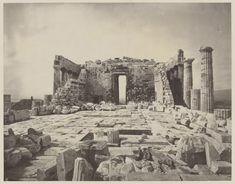 William J. Stillman photos of the Parthenon on the Acropolis of Athens, Greece, circa 1870. (Getty Museum)