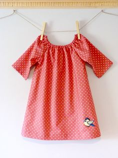 Charlotte Dress with bird iron-on applique