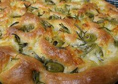 Focaccia veloce olive e rosmarino Home Burger, Olives, Quiche, Mashed Potatoes, Breakfast, Ethnic Recipes, Food, Italia, House Burger