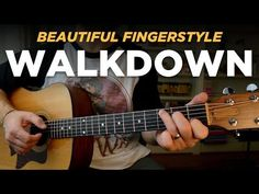 Walking it down, fingerstyle (key of C) Music Theory Guitar, Learn Guitar Chords, Easy Guitar Songs, Guitar Chords For Songs, Acoustic Guitar Lessons, Music Chords, Music Guitar, Playing Guitar, Art Music