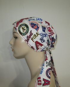 187f8c35b Chemo Hat Baseball Lover's Cancer Scarf, Surgical Scrub Hat, Turban, Hair  Loss Gift Cancer Patient