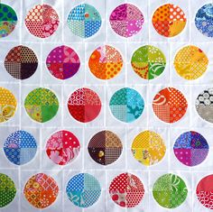 Pieced circle quilt. Hit the link and see a number of beautiful pieced quilts.