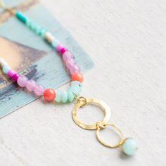 Zierliche+Perlenkette+zarte+Halskette+Gold+von+NestPrettyThingsShop