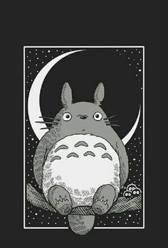 """The Best Innocence Film you should See 2019 - """"My Neighbour Totoro"""" My Neighbour Totoro is also often celebrated for its """"innocence"""" - its hand-drawn scenes of idyllic country fields, placing a strong emphasis on cultivating an appreciation for nature. Studio Ghibli Films, Art Studio Ghibli, Animes Wallpapers, Cute Wallpapers, Kawaii Wallpaper, Iphone Wallpaper, Phone Backgrounds, Totoro Drawing, Geometric Tatto"""