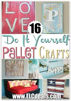 16 DIY Pallet Crafts