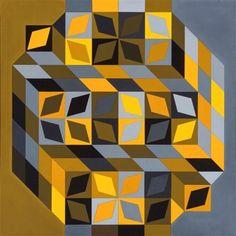 Tridim-Cristal-W par Victor Vasarely