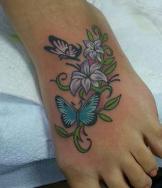 1000+ images about Orchid Foot Tattoos on Pinterest