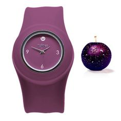 Slap Watch Plum Purple, $27, now featured on Fab.