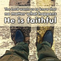He is the faithful God who keeps His covenant with us.