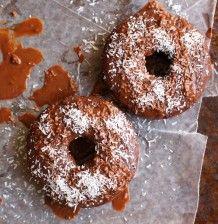 Chocolate Coconut Glazed Donuts