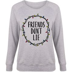 LC trendz Plus Athletic Heather 'Friends Don't Lie' Slouchy Pullover (31 CAD) ❤ liked on Polyvore featuring plus size women's fashion, plus size clothing, plus size tops, plus size, slouchy tops, womens plus tops, pullover top and plus size sparkly tops