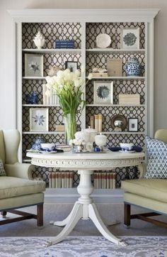Silvia Home Decor: Treillis, outro Padrão que adoro!... insert wallpaper details sparingly